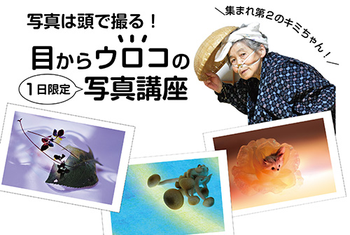 <small>写真は頭で撮る!</small><BR><strong>目からウロコの 1日限定 写真講座</strong><span style=